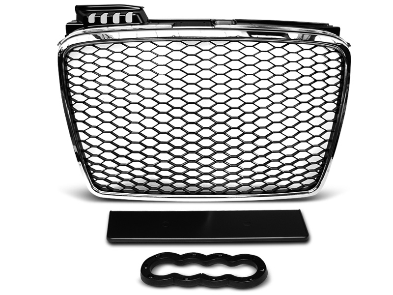 SHOP IMPORT Grille calandre A4 B7 04-08 Noir Brillant Look RS