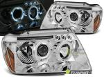 Paire de feux phares Jeep Grand Cherokee 99-05 angel eyes chrome