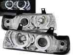 Paire de feux phares BMW serie 3 E36 90-99 angel eyes CCFL chrome
