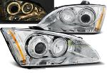 Paire de feux phares Ford Focus 04-08 angel eyes chrome