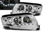 Paire de feux phares Skoda Fabia 99-08 Daylight led chrome