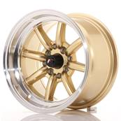 "Jante JAPAN RACING JR19 14"" x 8"" 4x100 4x114,3 ET -13 Gold"