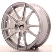 "Jante JAPAN RACING JR21 17"" x 7"" Multi Perçage ET 25-40 Silver Machined Face"