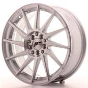 "Jante JAPAN RACING JR22 17"" x 7"" 4x108 4x100 ET 25 Silver Machined Face"