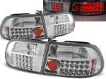 Paire de feux arriere Honda civic 91-95 LED chrome