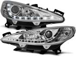 Paire de feux phares Peugeot 207 06-12 Daylight led chrome
