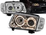 Paire de feux phares VW Polo 6N2 99-01 angel eyes chrome