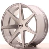 "Jante JAPAN RACING JR20 20"" x 10"" Multi Perçage ET 20-40 Silver Machined Face"