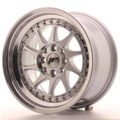 "Jante JAPAN RACING JR26 15"" x 8"" 4x100 4x108 ET 25 Machined Face Silver"