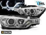 Paire de feux phares BMW F30/F31 11-15 Angel eyes Led Chrome HID DRL