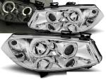 Paire de feux phares Renault Megane 02-05 angel eyes chrome