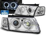 Paire de feux phares VW Passat 3B 96-00 angel eyes CCFL chrome