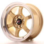 "Jante JAPAN RACING JR12 15"" x 7,5"" 4x100 4x114,3 ET 26 Gold"
