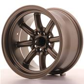 "Jante JAPAN RACING JR19 15"" x 9"" 4x108 4x100 ET -13 Bronze"