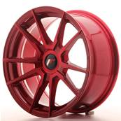 "Jante JAPAN RACING JR21 17"" x 8"" Multi Perçage ET 35 Red"