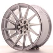 "Jante JAPAN RACING JR22 17"" x 8"" 4x100 4x108 ET 25 Machined Face Silver"