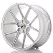 "Jante JAPAN RACING JR30 20"" x 10"" Multi Perçage ET 20-40 Silver Machined Face"