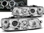 Paire de feux phares Fiat Punto 99-03 angel eyes chrome