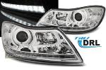 Paire de feux phares Skoda Octavia 09-12 Daylight led DRL chrome