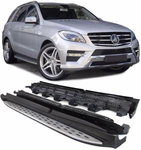 kit de marche pieds alu pour mercedes ml w166 de 2011 2015. Black Bedroom Furniture Sets. Home Design Ideas