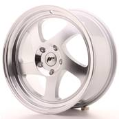 "Jante JAPAN RACING JR15 17"" x 8"" Multi Perçage ET 35 Silver Machined Face"