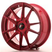 "Jante JAPAN RACING JR21 17"" x 7"" Multi Perçage ET 35-40 Red"