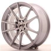 "Jante JAPAN RACING JR21 17"" x 7"" 4x100 4x108 ET 25 Silver Machined Face"
