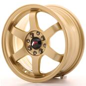 "Jante JAPAN RACING JR3 15"" x 7"" 4x108 4x100 ET 25 Gold"