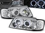 Paire de feux phares Audi A3 8L 96-00 Angel eyes chrome