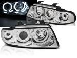 Paire de feux phares Audi A4 94-98 angel eyes CCFL chrome