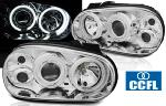 Paire de feux phares VW Golf 4 97-03 angel eyes CCFL chrome