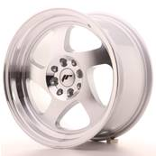 "Jante JAPAN RACING JR15 16"" x 8"" 4x100 4x108 ET 25 Machined Face Silver"
