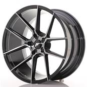 "Jante JAPAN RACING JR30 20"" x 10"" Multi Perçage ET 20-40 Black Brushed"