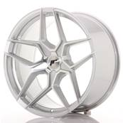 "Jante JAPAN RACING JR34 20"" x 10"" Multi Perçage ET 20-40 Machined Face Silver"