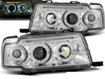Paire de feux phares Audi 80 B4 berline 91-96 Angel eyes chrome