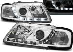 Paire de feux phares Audi A3 8L 96-00 Daylight DRL led chrome
