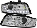 Paire de feux phares Audi A4 00-04 Daylight led chrome