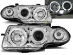 Paire de feux phares Opel Astra F 94-97 Angel eyes chrome