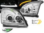 Paire feux phares Toyota Land Cruiser 120 03-09 TubeLight Led Chrome