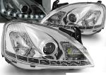 Paire de feux phares Opel Corsa C 00-06 Daylight led chrome