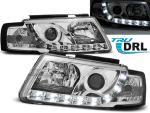 Paire de feux phares VW Passat 3B 96-00 Daylight DRL led chrome