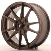 "Jante JAPAN RACING JR21 17"" x 7"" 4x100 4x108 ET 25 Bronze"