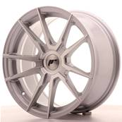 "Jante JAPAN RACING JR21 17"" x 8"" Multi Perçage ET 35 Silver Machined Face"