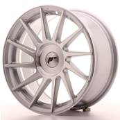 "Jante JAPAN RACING JR22 17"" x 8"" Multi Perçage ET 25-35 Machined Face Silver"