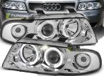 Paire de feux phares Audi A4 94-98 angel eyes chrome
