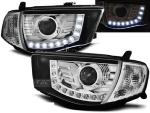 Paire de feux phares Mitsubishi L200 06-10 Daylight led chrome