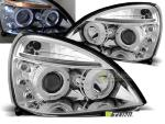 Paire de feux phares Renault Clio 2 01-05 angel eyes chrome