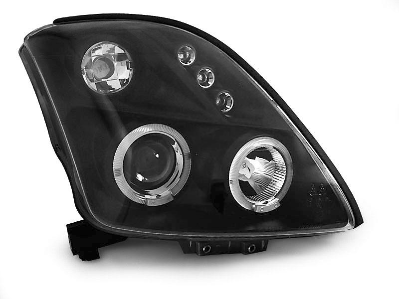Scheinwerfer Set Suzuki Swift MZ//EZ 02//05–10//10 klar//schwarz Angel Eyes 1004527