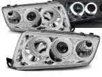 Paire de feux phares Skoda Fabia 99-08 angel eyes CCFL chrome