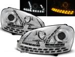 Paire de feux phares VW Golf 5 03-08 Daylight led chrome